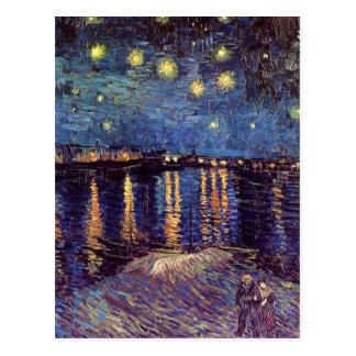 Van Gogh Starry Night Over the Rhone, Fine Art Postcard