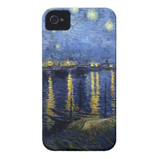 Van Gogh: Starry Night Over the Rhone iPhone 4 Case-Mate Cases