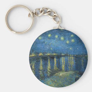 Van Gogh: Starry Night Over the Rhone Keychain