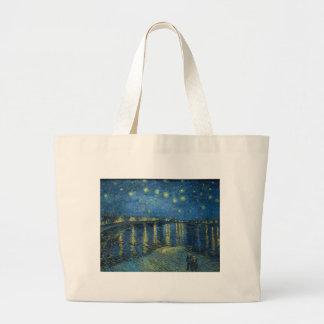 Van Gogh: Starry Night Over the Rhone Large Tote Bag