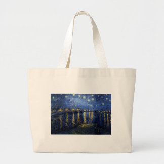 Van Gogh: Starry Night Over the Rhone Large Tote Bag