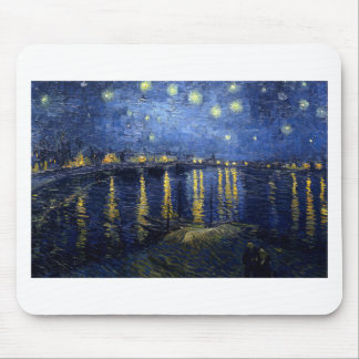 Van Gogh: Starry Night Over the Rhone Mouse Pad