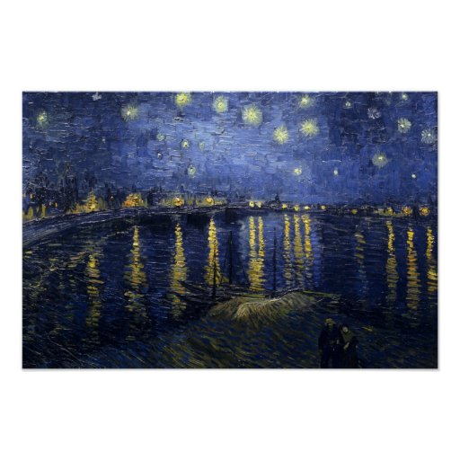 Van Gogh Starry Night Over The Rhone Poster