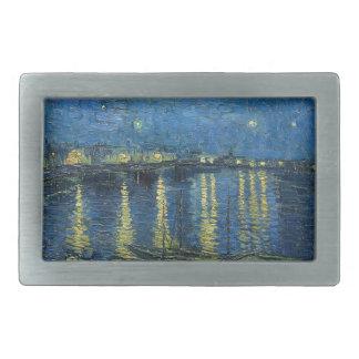 Van Gogh: Starry Night Over the Rhone Rectangular Belt Buckle