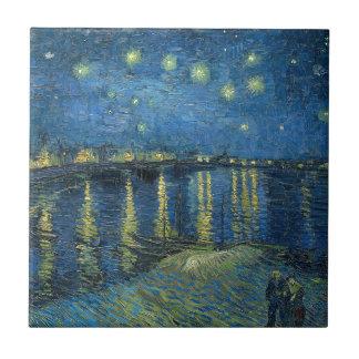 Van Gogh: Starry Night Over the Rhone Tile