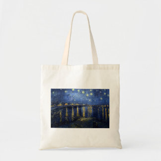 Van Gogh: Starry Night Over the Rhone Tote Bag