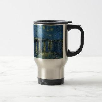 Van Gogh: Starry Night Over the Rhone Travel Mug