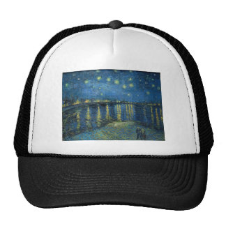 Van Gogh: Starry Night Over the Rhone Trucker Hat