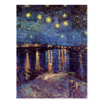 Van Gogh; Starry Night Over the Rhone, Vintage Art Postcards