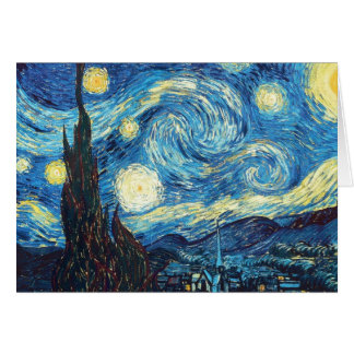 Van Gogh Starry Night Painting Greeting Card