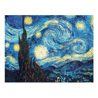 Van Gogh Starry Night Painting Postcard