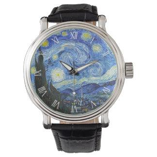 VAN GOGH Starry Night Roman Numerals Watch