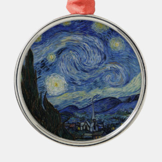 Van Gogh - Starry Night Silver-Colored Round Ornament