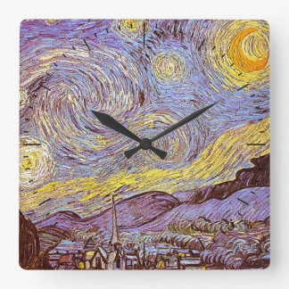 Van Gogh Starry Night Timepiece Clock