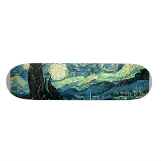 Van gogh starry night vector skateboard decks