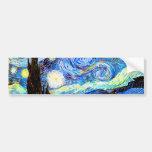 Van Gogh Starry Night, Vintage Fine Art Bumper Stickers