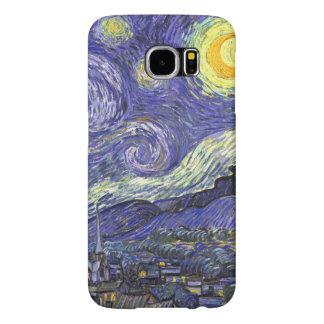 Van Gogh Starry Night, Vintage Fine Art Landscape Samsung Galaxy S6 Cases
