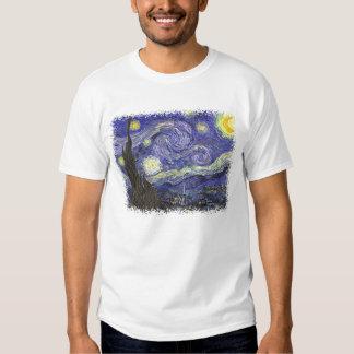 Van Gogh Starry Night, Vintage Fine Art Landscape Shirt