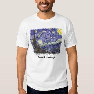 Van Gogh Starry Night, Vintage Fine Art Landscape T-shirts