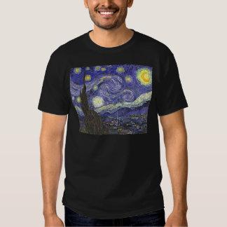 Van Gogh Starry Night, Vintage Landscape Art Shirt