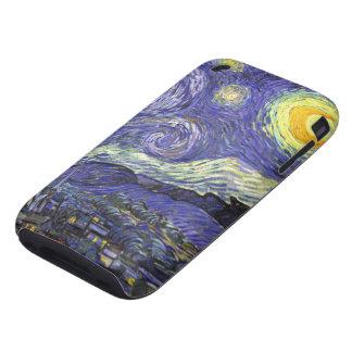 Van Gogh Starry Night Vintage Post Impressionism iPhone 3 Tough Case