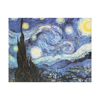 Van Gogh Starry Night Wrapped Canvas Vintage Art