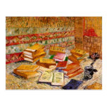 Van Gogh Still Life French Novels & Rose (F359) Post Cards