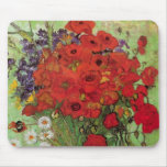 Van Gogh; Still Life: Red Poppies and Daisies Mouse Pad