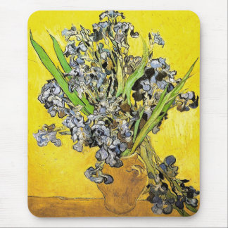 Van Gogh Still Life Vase, Irises (F678) Fine Art Mouse Pad