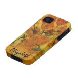 Van Gogh; Still Life: Vase with 15 Sunflowers iPhone 4/4S Cover