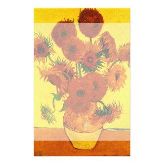 Van Gogh Still Life: Vase with 15 Sunflowers Stationery Design
