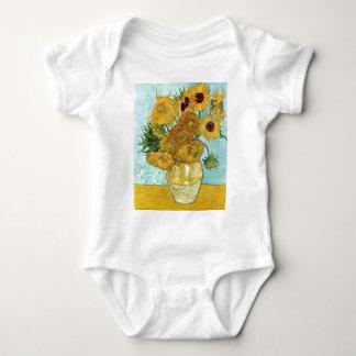 van Gogh Still Life Vase with Twelve Sunflowers Baby Bodysuit
