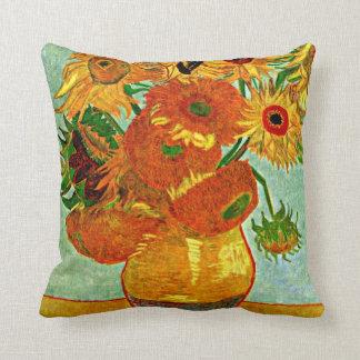 Van Gogh: Still Life Vase with Twelve Sunflowers Throw Pillow