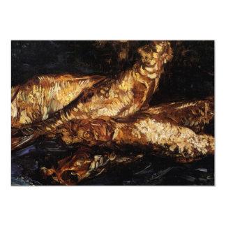 "Van Gogh Still Life w Bloaters, Vintage Fine Art 5"" X 7"" Invitation Card"