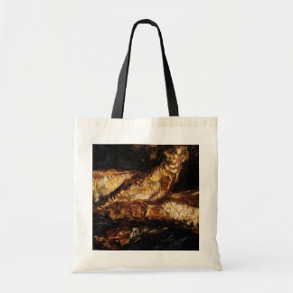 Van Gogh Still Life w Bloaters, Vintage Fine Art Budget Tote Bag