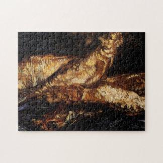 Van Gogh Still Life w Bloaters, Vintage Fine Art Jigsaw Puzzles