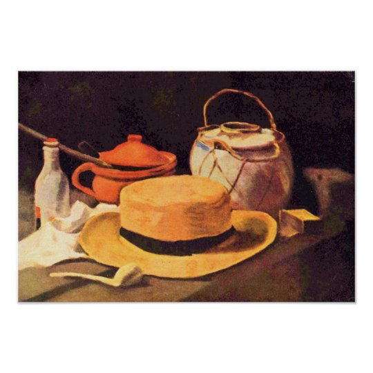 Van Gogh - Still Life with Pipe and Straw Hat Poster