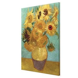 Van Gogh Sunflowers (F455) Vintage Fine Art Stretched Canvas Prints