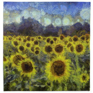 Van Gogh Sunflowers Napkin