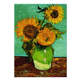 Van Gogh - Sunflowers, Three Poster