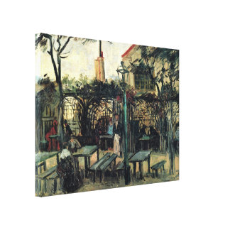 Van Gogh Terrace of a Cafe on Montmartre, Fine Art Canvas Print
