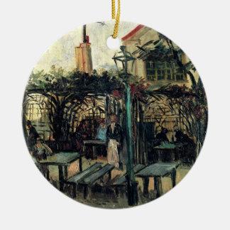 Van Gogh Terrace of a Cafe on Montmartre, Fine Art Ceramic Ornament