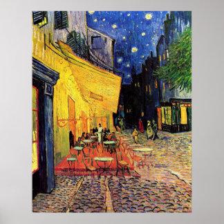 Van Gogh Terrasse de café la nuit beaux-arts vi Affiches