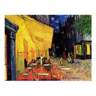 Van Gogh Terrasse de café la nuit beaux-arts vi Cartes Postales