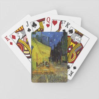 Van Gogh ; Terrasse de café la nuit Cartes À Jouer