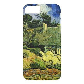 Van Gogh Thatched Cottages at Cordeville, Fine Art iPhone 7 Case