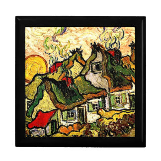 Van Gogh: Thatched Cottages in the Sunshine Keepsake Box