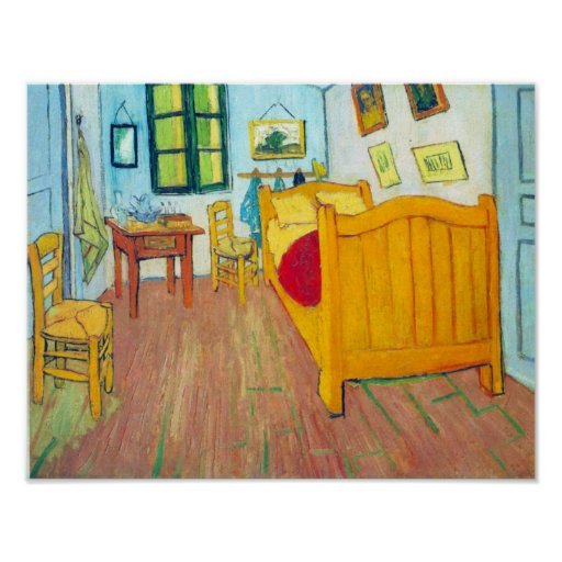 Van Gogh - The bedroom in Arles Saint-Remy Poster