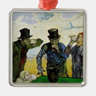 Van Gogh, The Drinkers, Vintage Post Impressionism Metal Ornament