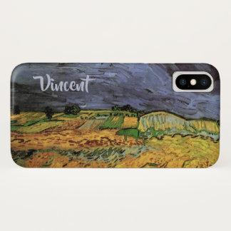 Van Gogh The Fields, Vintage Landscape Fine Art iPhone X Case